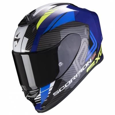 Scorpion Helm EXO-R1 Air Halley, schwarz-blau-fluogelb
