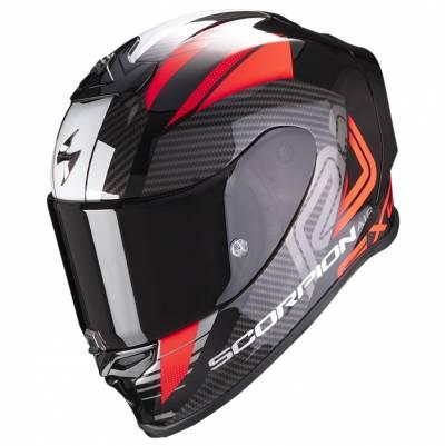 Scorpion Helm EXO-R1 Air Halley, schwarz-rot-weiß
