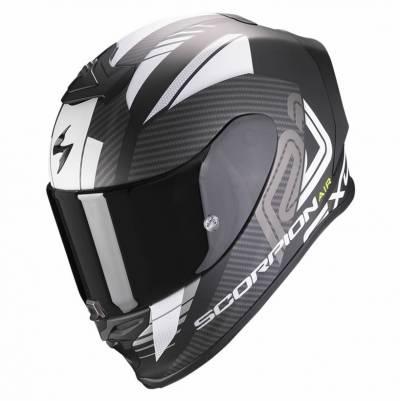 Scorpion Helm EXO-R1 Air Halley, schwarz-weiß matt