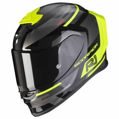 Scorpion Helm EXO-R1 Air Orbis, schwarz-fluogelb
