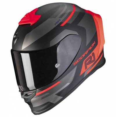Scorpion Helm EXO-R1 Air Orbis, schwarz-fluorot matt