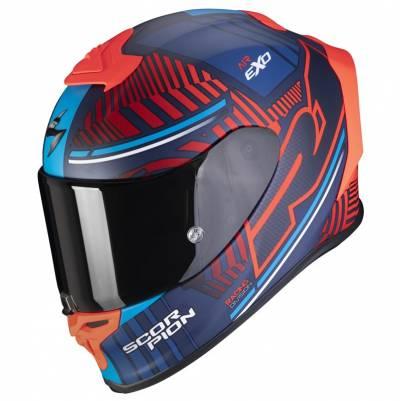 Scorpion Helm EXO-R1 Air Victory, blau-rot matt