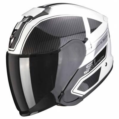 Scorpion Helm EXO-S1 Cross-Ville, weiß-schwarz-silber