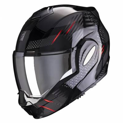 Scorpion Helm EXO-Tech Pulse, schwarz-rot