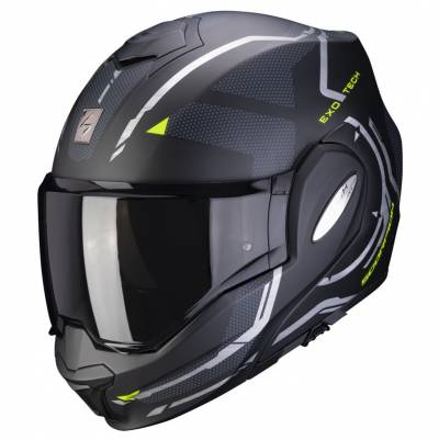 Scorpion Helm Exo-Tech Square, schwarz-fluogelb matt