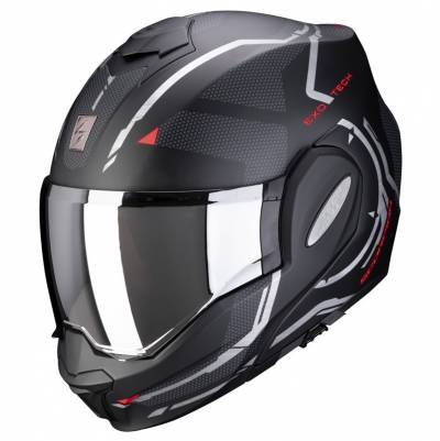 Scorpion Helm Exo-Tech Square, schwarz-rot matt