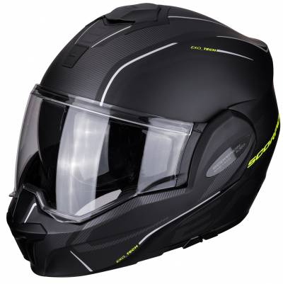 Scorpion Helm EXO-Tech Time Off, schwarz-fluogelb matt
