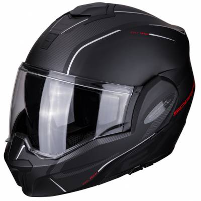 Scorpion Helm EXO-Tech Time Off, schwarz-rot matt