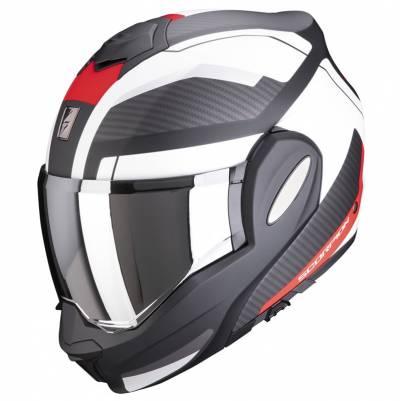 Scorpion Helm Exo-Tech Trap, schwarz-rot-weiß matt
