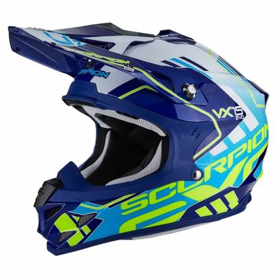 Scorpion Helm VX-15 Evo Air Argo, blau-weiß