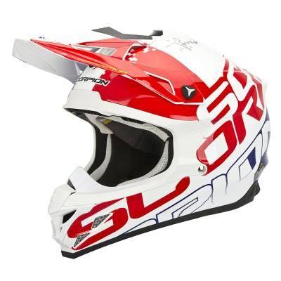 Scorpion Helm VX-15 Evo Air Grid, weiß-rot-blau