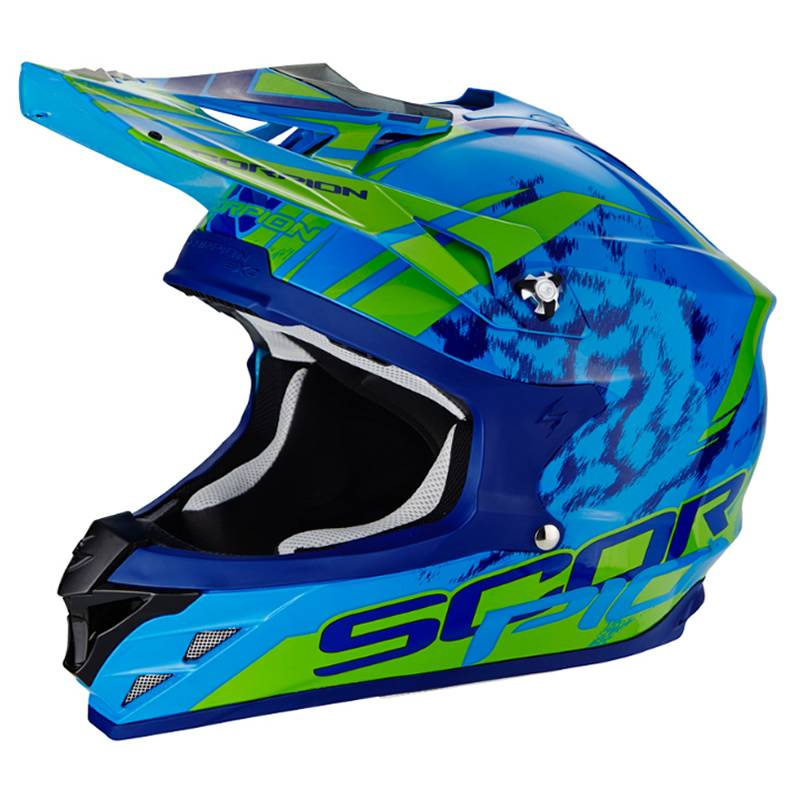 Scorpion Helm VX-15 Evo Air Kitsune, blau-grün