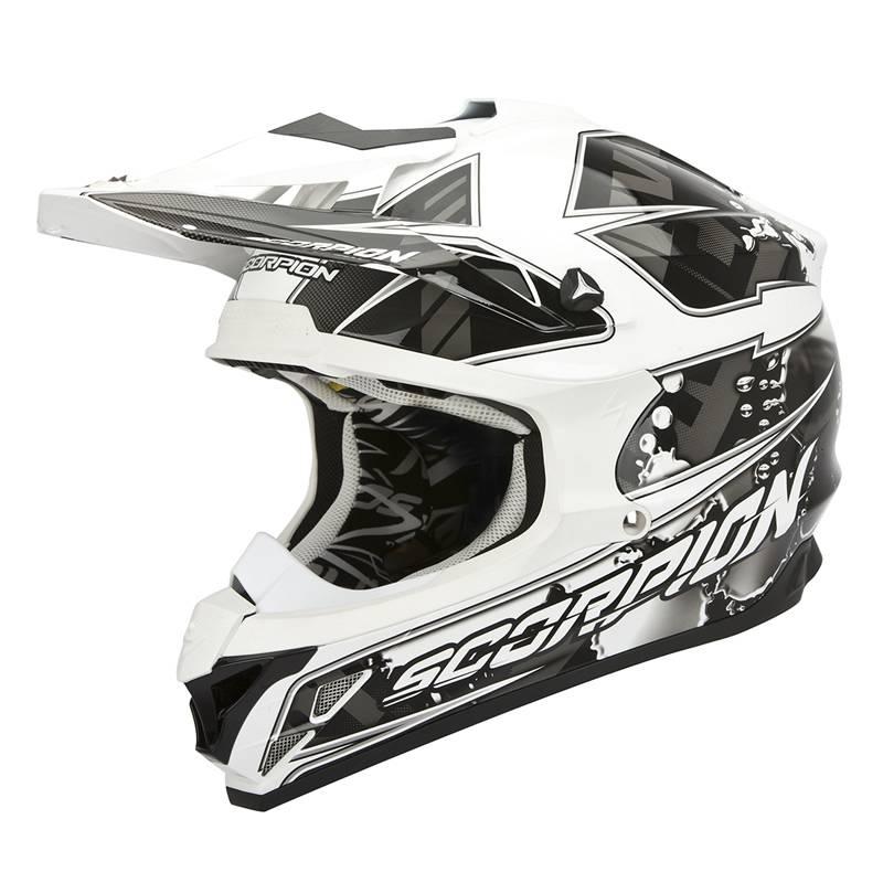 Scorpion Helm VX-15 Evo Air Magma, schwarz-weiß