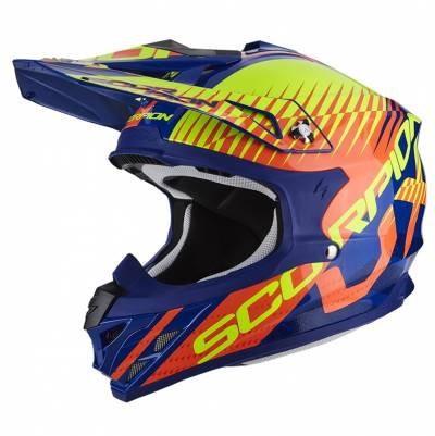 Scorpion Helm VX-15 Evo Air Sin, blau-orange