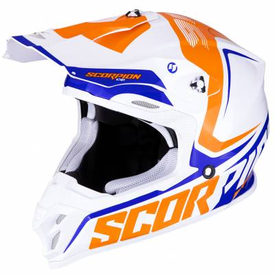 Scorpion Helm VX-16 Air Ernee, weiß-orange-blau