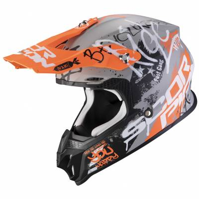 Scorpion Helm VX-16 Air Oratio, grau-orange matt