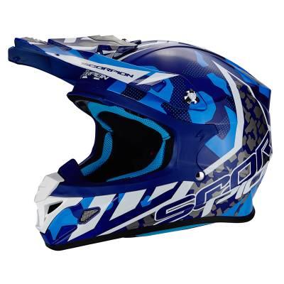 Scorpion Helm VX-21 Air Mudirt, himmelblau-schwarz