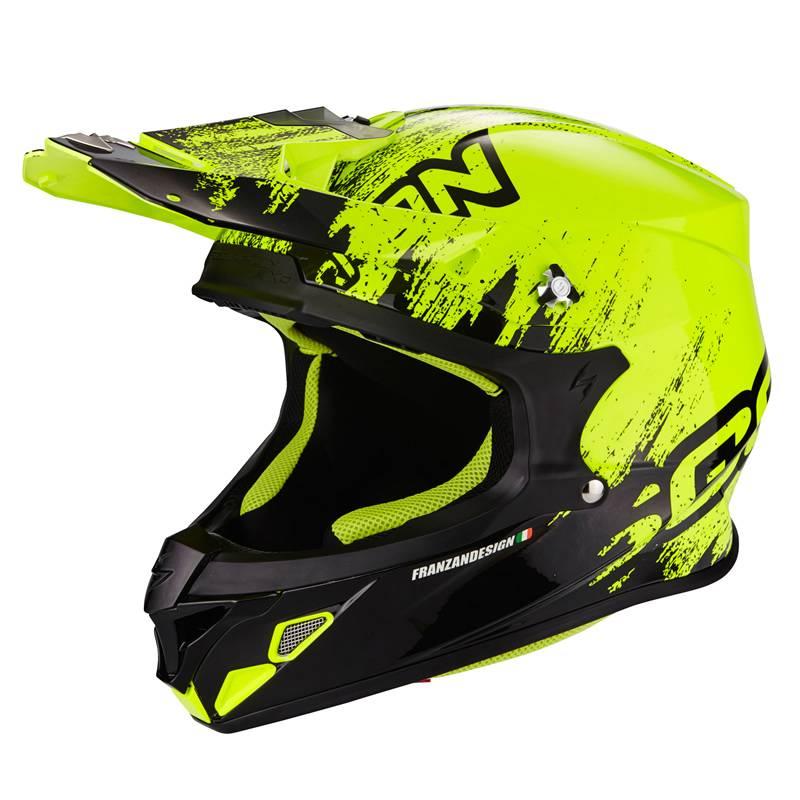 Scorpion Helm VX-21 Air Mudirt, neongelb-schwarz