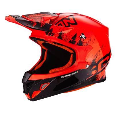 Scorpion Helm VX-21 Air Mudirt, neonrot-schwarz