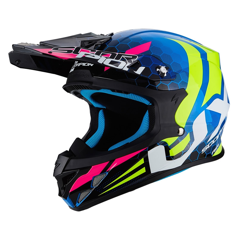 Scorpion Helm VX-21 Air Xagon, blau-fluogelb