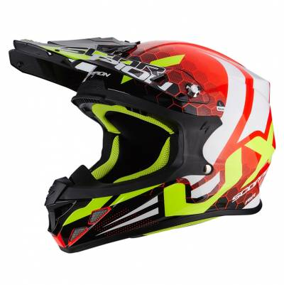 Scorpion Helm VX-21 Air Xagon, fluorot-schwarz