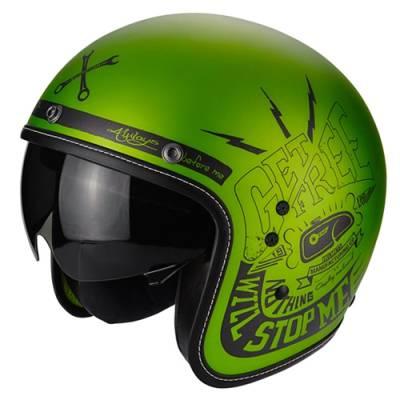 Scorpion Jethelm Belfast Fender, grün-schwarz