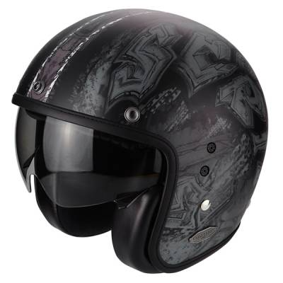 Scorpion Jethelm Belfast Urbex, schwarz-silber matt