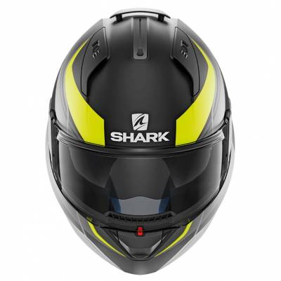 Shark Evo-One 2 Krono Mat, schwarz-fluogelb-grau matt