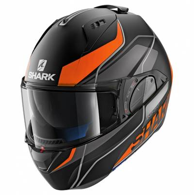 Shark Evo-One 2 Krono Mat, schwarz-orange-grau matt