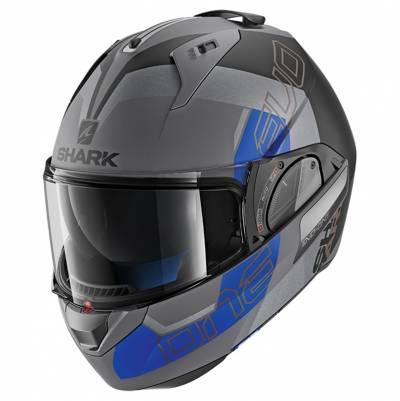 Shark Evo-One 2 Slasher Mat, grau-blau-schwarz matt