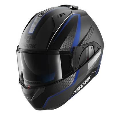 Shark Helm Evo-One Blank Astor Mat, silber-schwarz-blau-matt