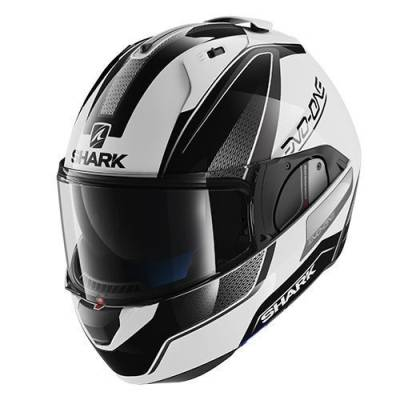 Shark Helm Evo-One Blank Astor, weiß-schwarz-anthrazit