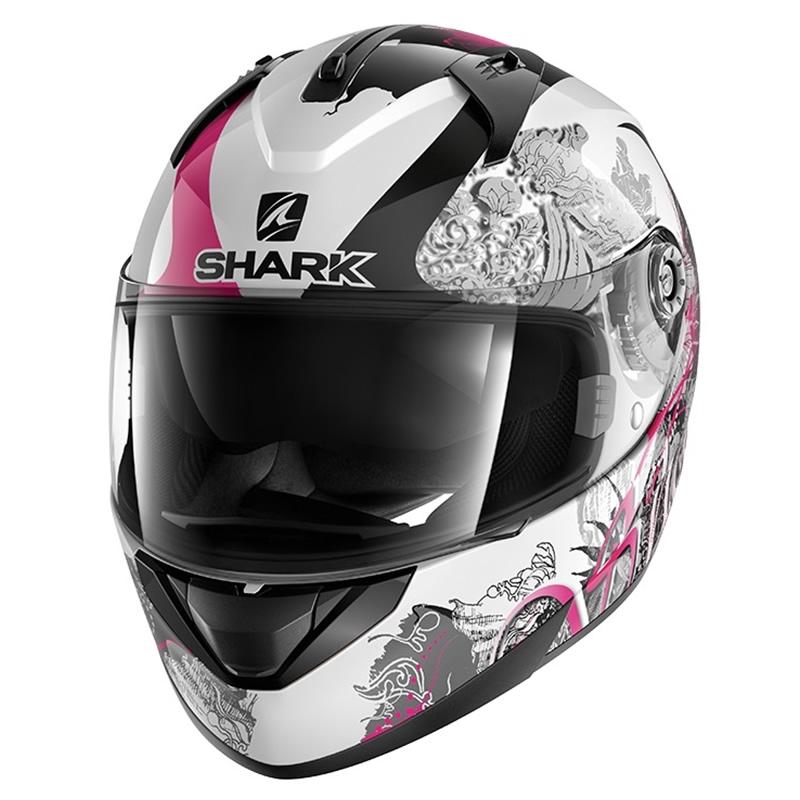 Shark Helm Ridill Spring, weiß-schwarz-pink