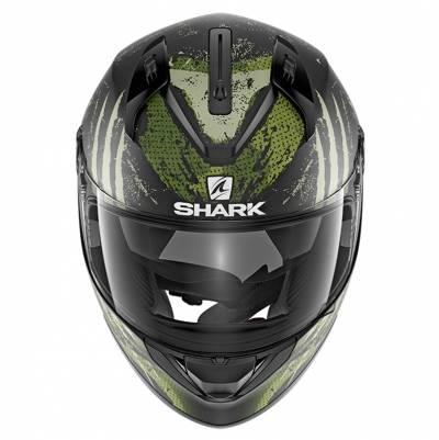 Shark Helm Ridill Threezy Mat, schwarz-grün-weiß matt