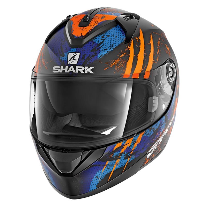 Shark Helm Ridill Threezy Mat, schwarz-orange-blau matt