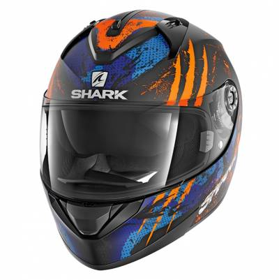 Shark Helm Ridill Threezy Mat, schwarz-orange-blau matt