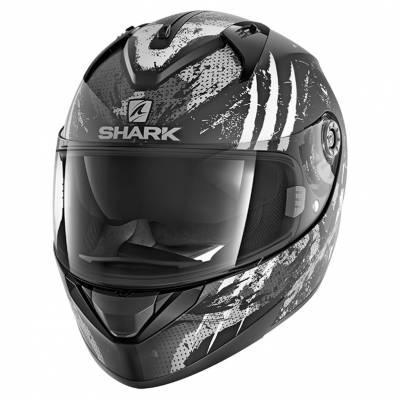Shark Helm Ridill Threezy Mat, schwarz-weiß-grau matt