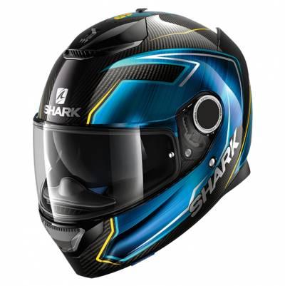 Shark Helm Spartan Carbon Guintoli, schwarz-blau-gelb