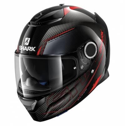 Shark Helm Spartan Carbon Silicium, schwarz-rot