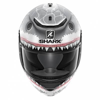 Shark Helm Spartan Lorenzo Wht Shark Mat, grau-weiß matt