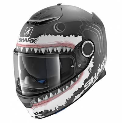 Shark Helm Spartan Lorenzo Wht Shark Mat, schwarz-weiß matt