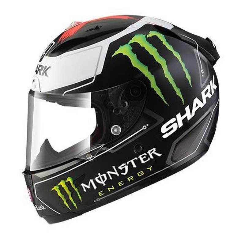 Shark RACE-R PRO Lorenzo Monster, schwarz-weiß-rot-matt