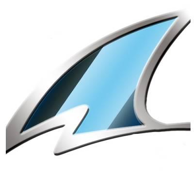 Shark Visier Vision-R, blau verspiegelt