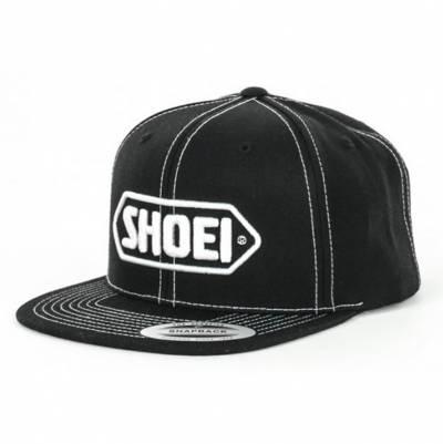 Shoei Cap Snapback, schwarz-weiss