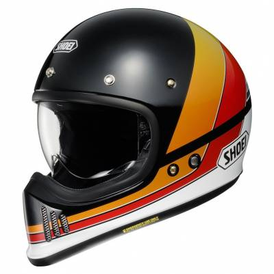Shoei Helm EX-Zero Equation TC-10, schwarz-orange-rot