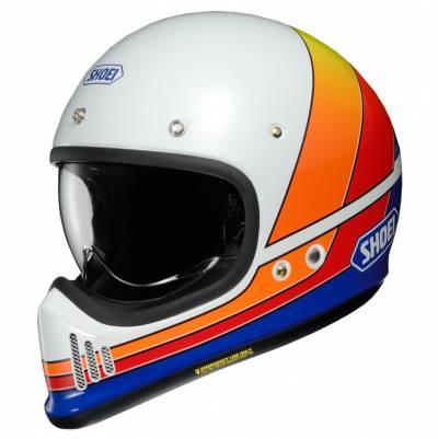 Shoei Helm EX-Zero Equation TC-2, weiß-blau-rot-orange