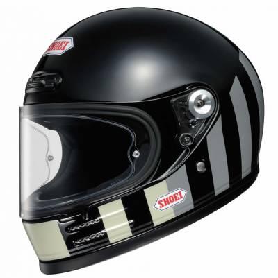 Shoei Helm Glamster Resurrection, schwarz-weiß-grau