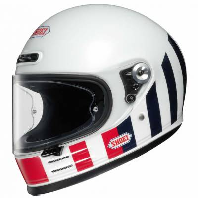 Shoei Helm Glamster Resurrection, weiß-rot-blau