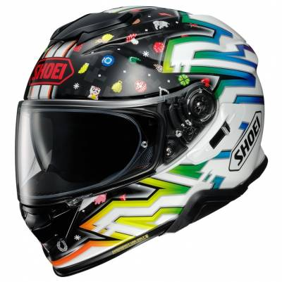 Shoei Helm GT-Air II Lucky Charms TC-10, schwarz-weiß-bunt