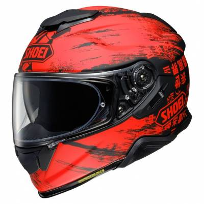 Shoei Helm GT-Air II Ogre TC-1, rot-schwarz matt